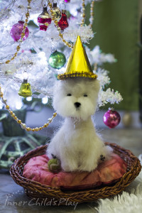 1:4 Scale Needle Felted Westie